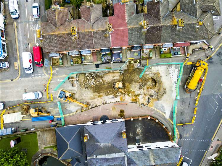 Drone Footage of Construction Site