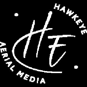 HaekEye Aerial Media White Logo