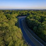 Aerial Drone Footage of Road