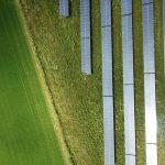 Aerial Drone Footage of Solar Farm
