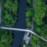 Aerial Drone Footage of River