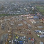 Aerial Drone Footage of Construction Site