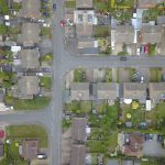 Aerial Drone Footage of Housing Estate