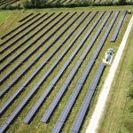 Aerial Drone Footage of Solar Panel Site