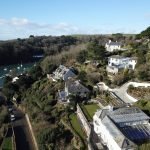 Aerial Drone Footage of Homes by the Sea