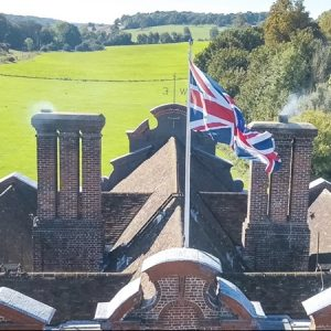 Aerial Drone Footage of Chimney Top & Roof