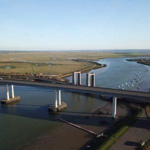 Aerial Drone Footage of Bridge